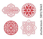 set of vector korean... | Shutterstock .eps vector #589178465