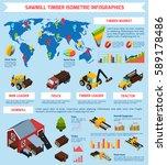 timber market infographics...   Shutterstock .eps vector #589178486