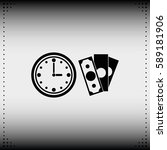 time is money icon. | Shutterstock .eps vector #589181906
