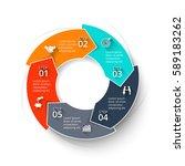 vector arrows infographic.... | Shutterstock .eps vector #589183262