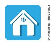 square button simple facade... | Shutterstock .eps vector #589184816