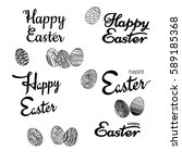 vector happy easter phrases... | Shutterstock .eps vector #589185368