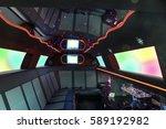 interior inside the limousine... | Shutterstock . vector #589192982