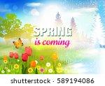 spring. | Shutterstock .eps vector #589194086