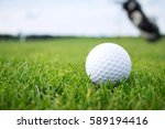 golf ball on the grass | Shutterstock . vector #589194416