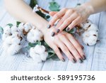 beauty treatment for woman... | Shutterstock . vector #589195736