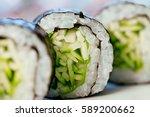 beautifully decorated sushi...