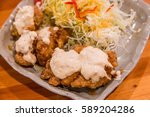 chicken nanban   deep fired... | Shutterstock . vector #589204286