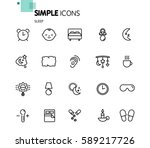 simple set of sleep related... | Shutterstock .eps vector #589217726