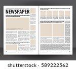 vector empty newspaper print... | Shutterstock .eps vector #589222562