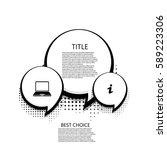 vector modern halftone bubble... | Shutterstock .eps vector #589223306