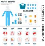 water balance flat... | Shutterstock . vector #589225778
