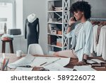 talking about fashion.... | Shutterstock . vector #589226072