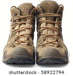 Hiking Shoes In Detail On A...