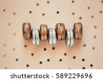group of golden and silver... | Shutterstock . vector #589229696