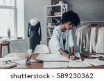 turning ideas into clothing.... | Shutterstock . vector #589230362