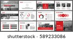 red elements of infographics... | Shutterstock .eps vector #589233086