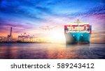 logistics and transportation of ... | Shutterstock . vector #589243412