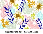 flower | Shutterstock .eps vector #58925038