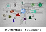 group of colorful application... | Shutterstock . vector #589250846