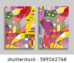 abstract composition geometric... | Shutterstock .eps vector #589262768