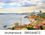 panoramic view of istanbul ...   Shutterstock . vector #589266872
