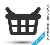 shopping basket icon. shopping... | Shutterstock .eps vector #589276976