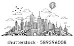hand drawn city sketch for your ...   Shutterstock .eps vector #589296008