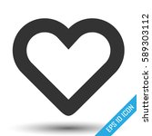 heart icon. simple flat logo of ... | Shutterstock .eps vector #589303112