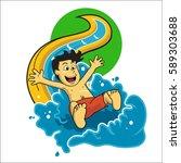 vector  illustration child... | Shutterstock .eps vector #589303688