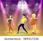 night club  parties. people... | Shutterstock .eps vector #589317236