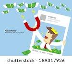 illustration vector of make... | Shutterstock .eps vector #589317926