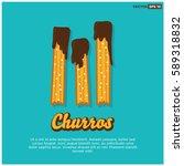 churro fried dough pastry poster | Shutterstock .eps vector #589318832
