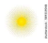 Sun. Sun Rays Icon. Vector...
