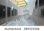 secure bank servers. server... | Shutterstock . vector #589323206