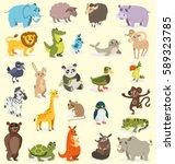 set of different animals. birds ...   Shutterstock .eps vector #589323785