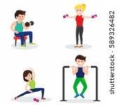 active men and women fitness... | Shutterstock .eps vector #589326482