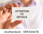closeup on businessman holding... | Shutterstock . vector #589334678