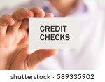 closeup on businessman holding... | Shutterstock . vector #589335902