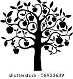 apple tree. | Shutterstock .eps vector #58933639