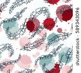 abstract vector seamless... | Shutterstock .eps vector #589343096