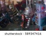 galvanized iron plaything robot  | Shutterstock . vector #589347416