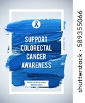 colo rectal cancer awareness... | Shutterstock .eps vector #589355066