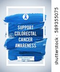 colo rectal cancer awareness... | Shutterstock .eps vector #589355075