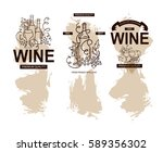 vector set of labels  banners... | Shutterstock .eps vector #589356302