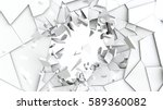 abstract of cracked surface. 3d ... | Shutterstock . vector #589360082
