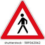 pedestrian. vector road sign... | Shutterstock .eps vector #589362062