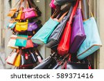 colorful leather purses in...   Shutterstock . vector #589371416