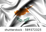 cyprus flag on old background... | Shutterstock . vector #589372325
