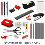 stationery office and school... | Shutterstock .eps vector #589377242